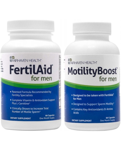 Fairhaven FertilAid For Men & Motility Boost Combo
